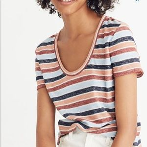 Madewell Alto Colborne striped tee, size Small